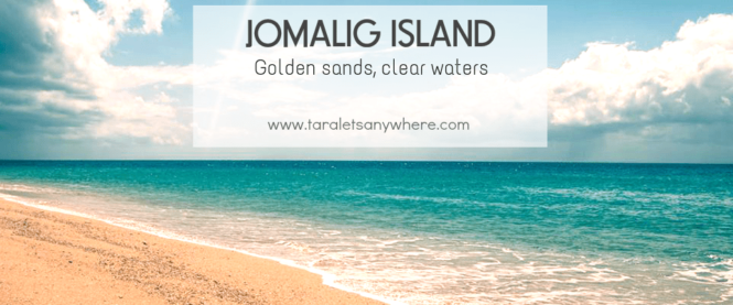 Golden sands in Jomalig island, Quezon