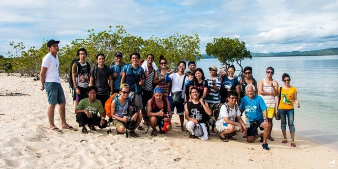 Group shot in Alibijaban Island