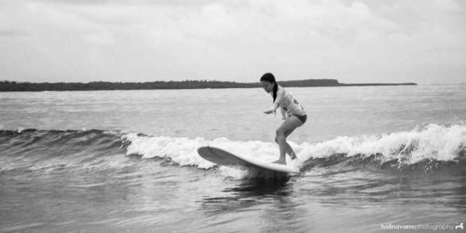 Surfing in Lola Sayong's eco-camp, Sorsogon