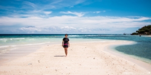 Sumilon Island sand bar in Cebu