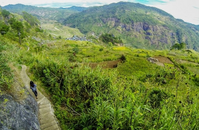 Trail to Bomod-ok Falls in Sagada