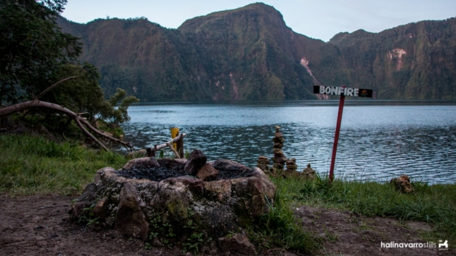 Bonfire site in Lake Holon
