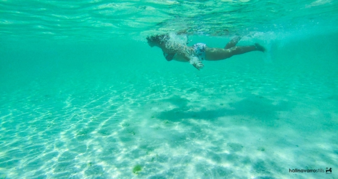 Swimming in Carabao Island, Romblon