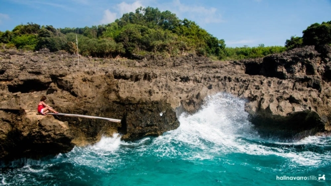 Koding-Koding Point cliff dive