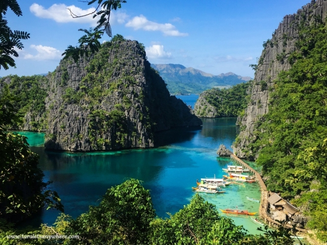 View deck in Kayangan Lake, Coron