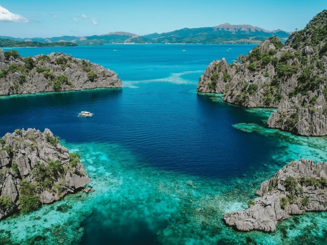 Drone shot in Coron, Palawan
