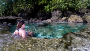Small pool in Magpupungko rock pool, Siargao