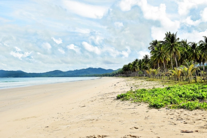 White Beach in San Vicente, Palawan, Philippines