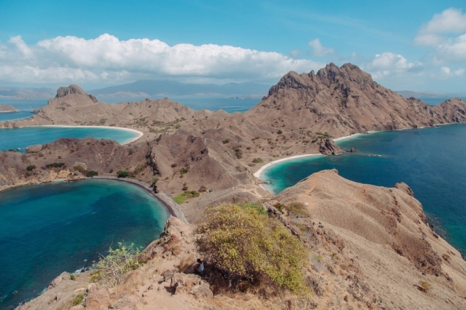 Padar Island in Komodo, Indonesia