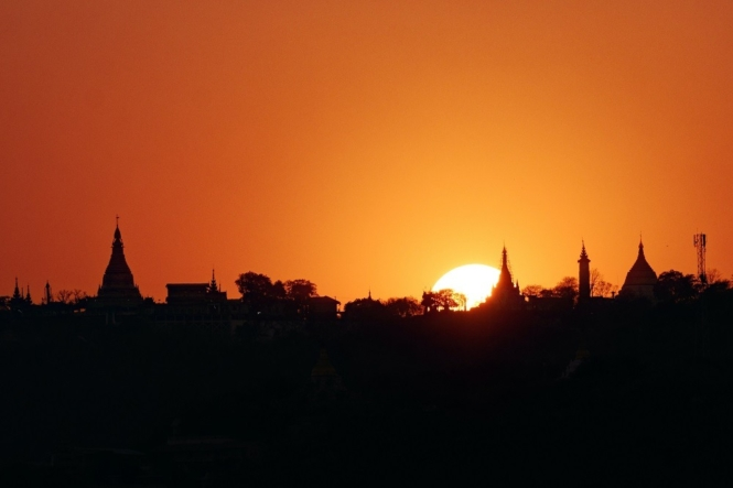 Sunrise in Mandalay, Myanmar