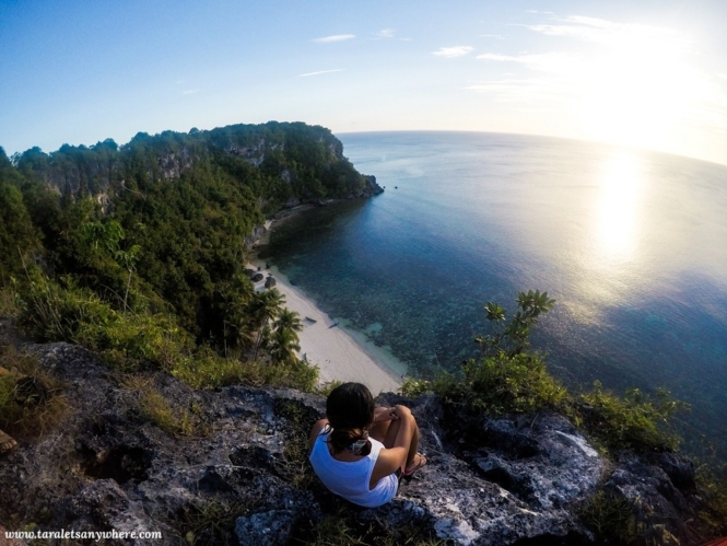 A cliff on a private beach in Buton Island
