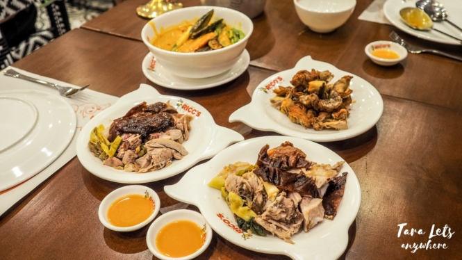 Food in Rico's Lechon, Tiendesitas