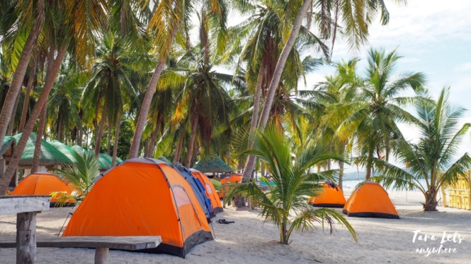 Camping grounds in Maniwaya Island