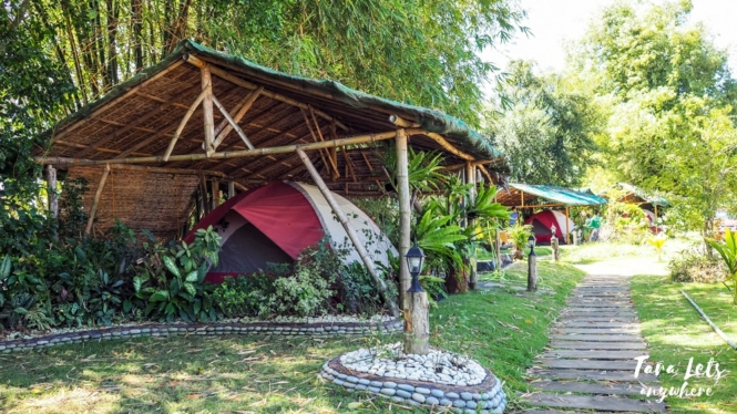 Glamping tents in San Rafael River Adventure