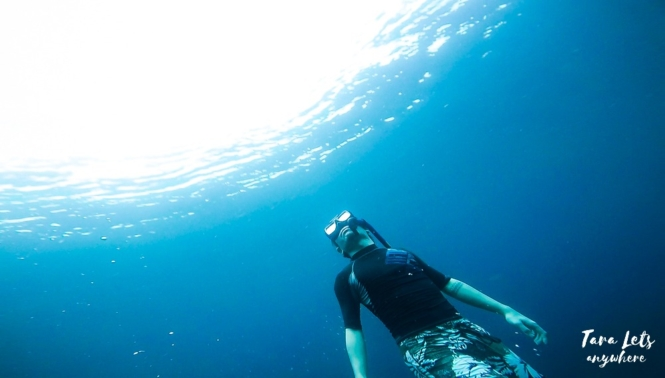 Hali freediving in Batangas
