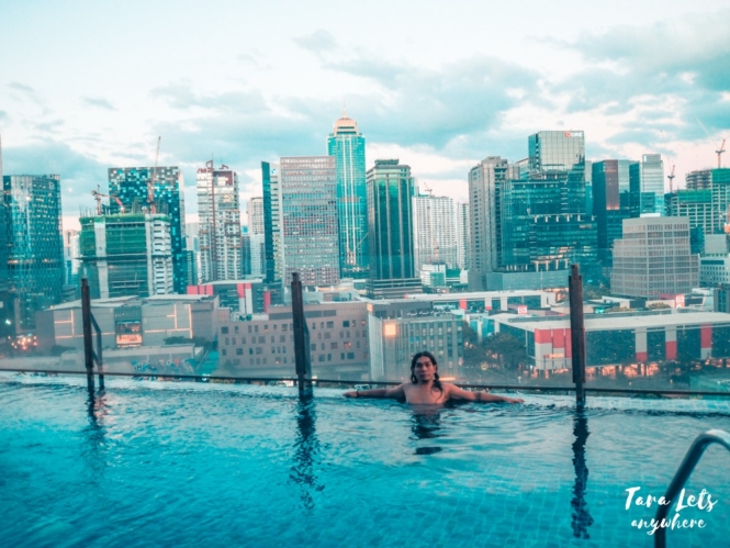 Infinity pool at Icon Plaza BGC