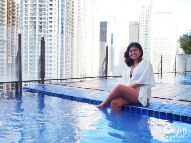 Kat in Icon Plaza BGC infinity pool