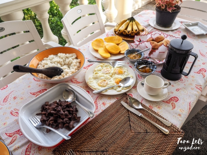 Breakfast in Ataalaya Farmhouse