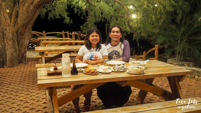 Couple shot at dinner at Punta Verde Resort