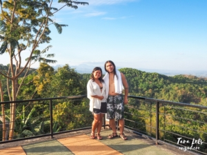 Couple shot in a view deck at Sinagtala Resort