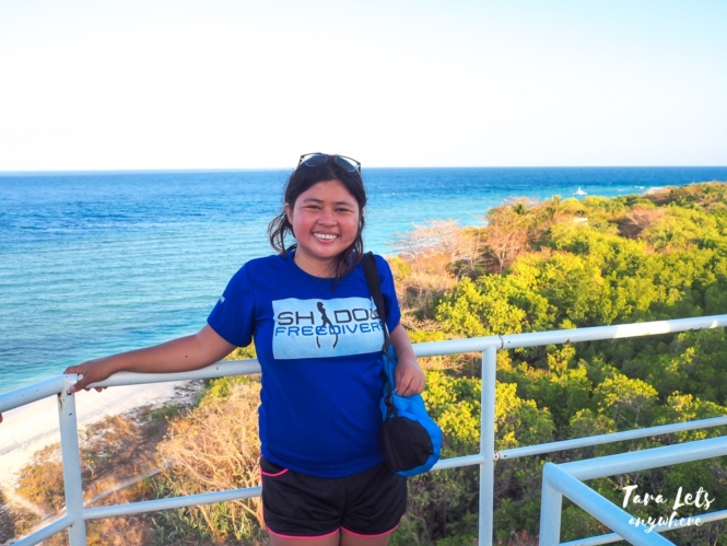 Kat in Apo Island Lighthouse