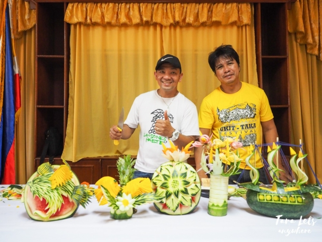 Fruit and vegetable carving in Paete, Laguna