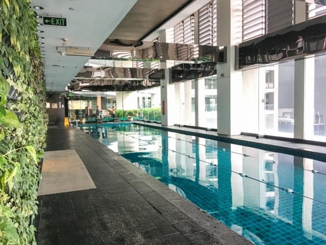 Lap pool at Gramercy Residences