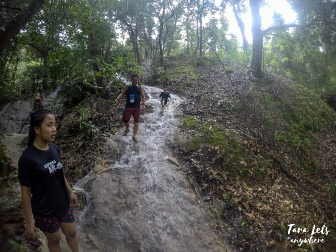 Trek down the blue lagoons in Kaparkan Falls