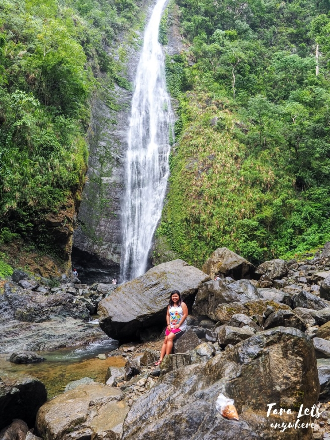 Kat at Dibulo Falls in Dinapigue, Isabela