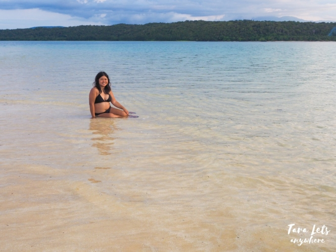 Kat at Honeymoon Island, Isabela