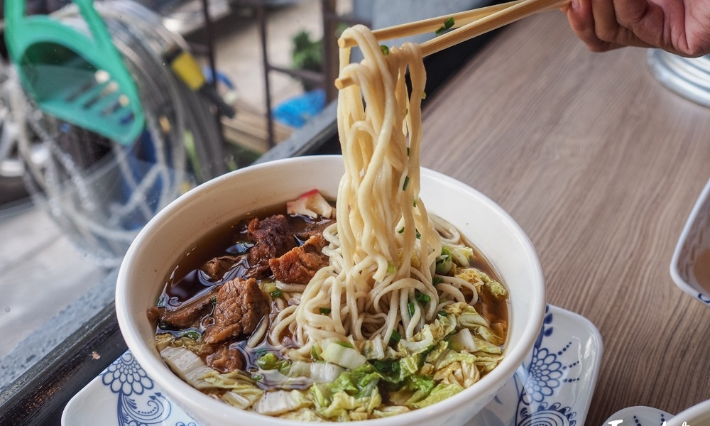 Hand-pulled beef noodles at Noychi Dimsum Express