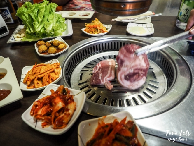 Seoul Galbi - grilling meat