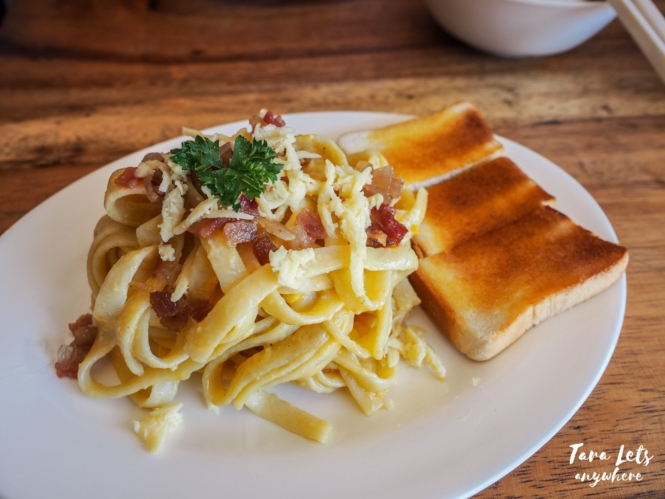 Singapo Lah Cafe - salted-egg carbonara