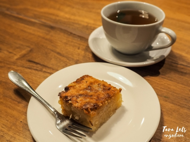 Cassava cake and tea at Narra Hill