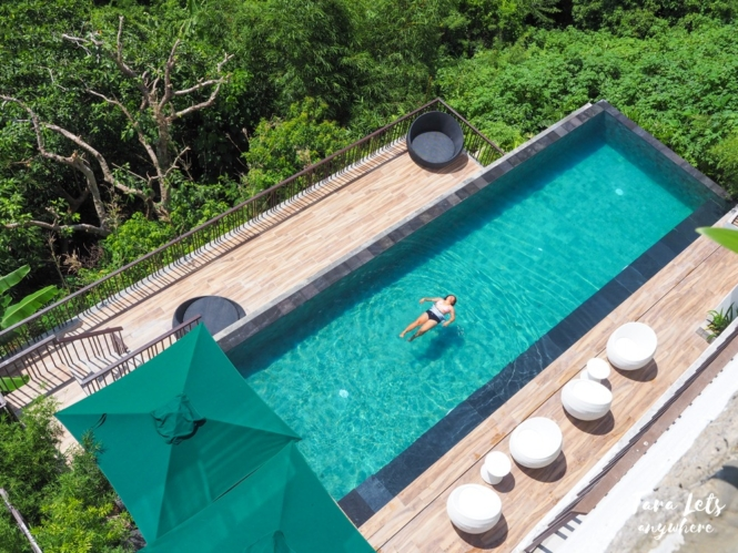 Infinity pool in Narra Hill, Tagaytay