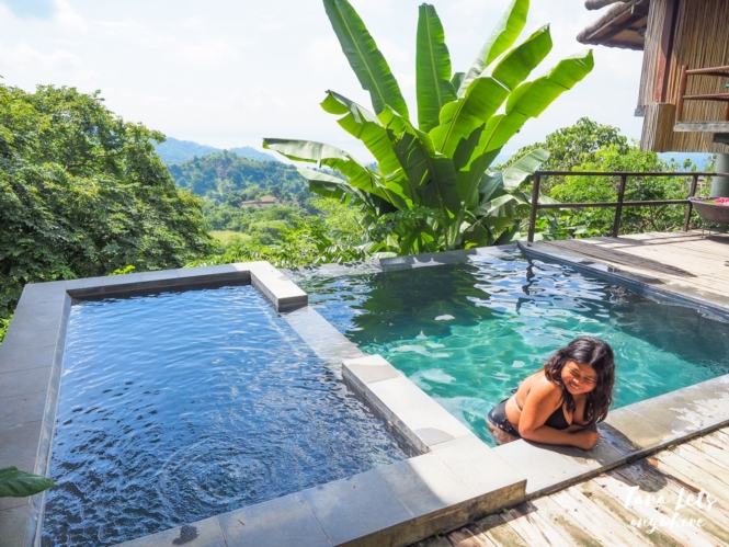 Kat in plunge pool at Narra Hill