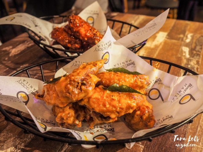 The Beer Factory - flavored chicken wings