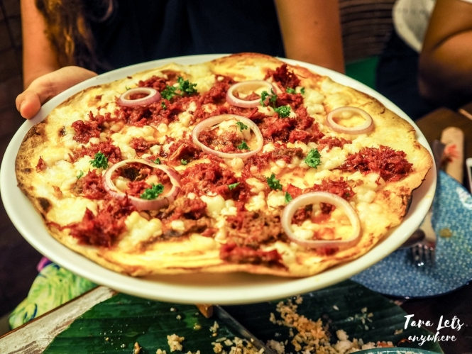 Fiesta Alamexo - ranchero corned beef pizza