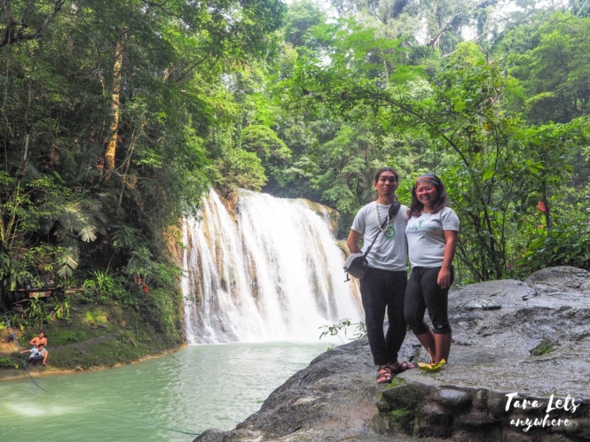 Couple shot in Daranak Falls