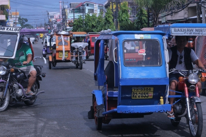 Tricycle mode of transport in the Philippines