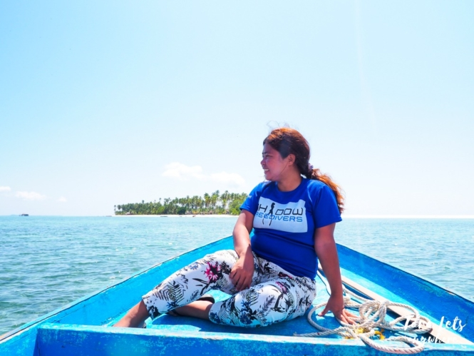 Kat during island hopping in Tawi-Tawi