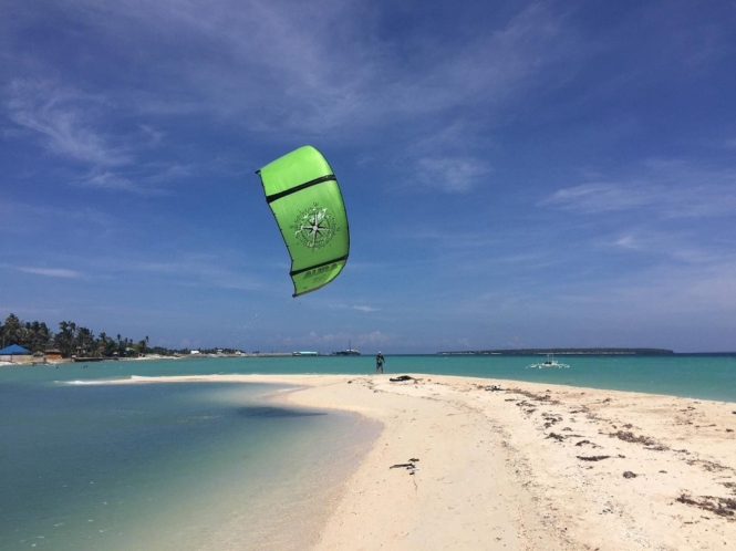 Kite surfing in Bantayan Island, Cebu
