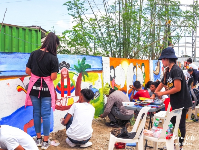 Lambayok Festival mural painting competition