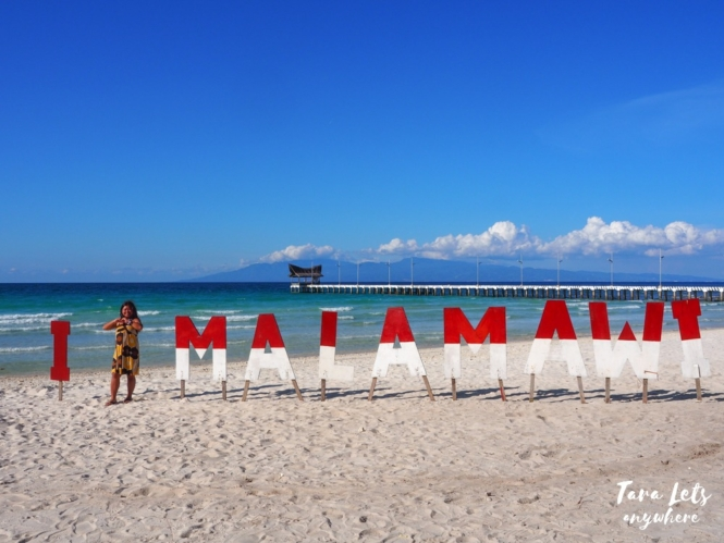 Malamawi Beach Resort signage