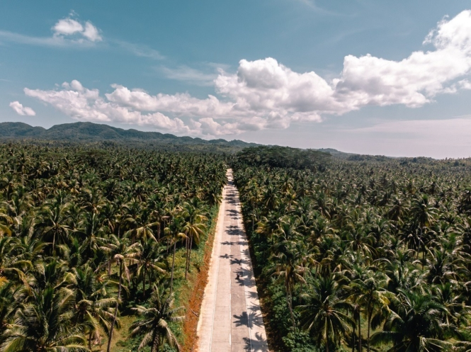 Road in Siargao, Philippines