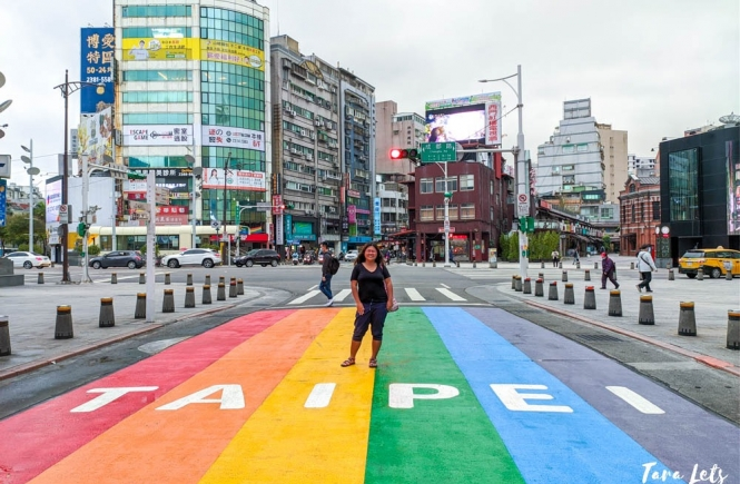 Rainbow Walk in Ximending District in Taipei
