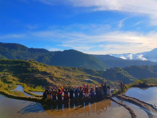 Group shot in Maligcong Rice Terraces