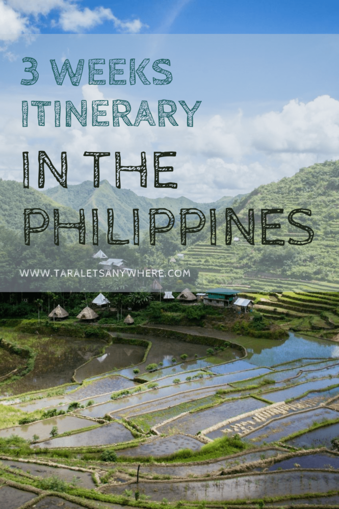 3 Weeks itinerary in the Philippines