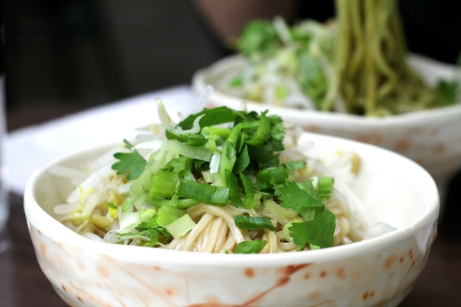 Noodle dish in Taiwan