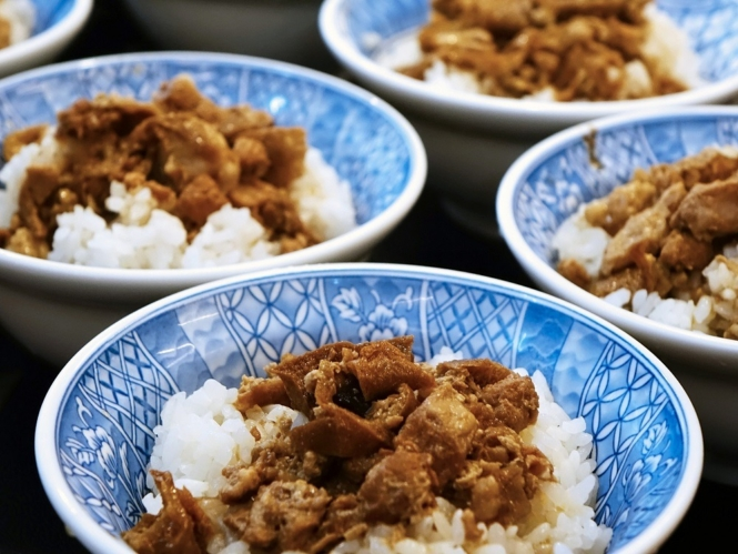 Taiwanese food - braised pork rice
